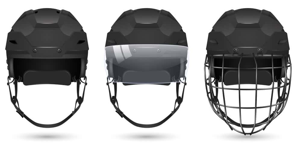 Helmet With Cage Or Visor